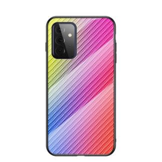 Samsung Galaxy A72 - Hybrid cover med bagside af hærdet glas - Multifarvet
