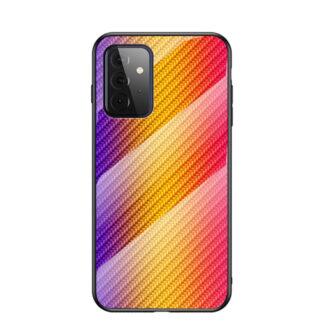 Samsung Galaxy A72 - Hybrid cover med bagside af hærdet glas - Orange