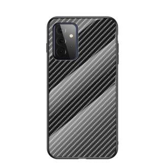 Samsung Galaxy A72 - Hybrid cover med bagside af hærdet glas - Sort
