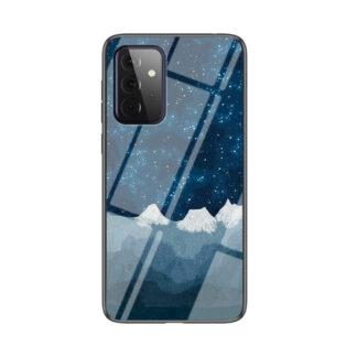 Samsung Galaxy A72 - Hybrid cover med bagside af hærdet glas - Stjernehimmel