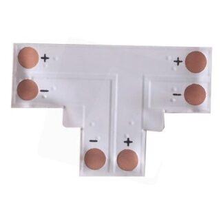 T-mellemled til enkelt farvet LED strips - Til 3528 strips (8mm bred), 12V / 24V