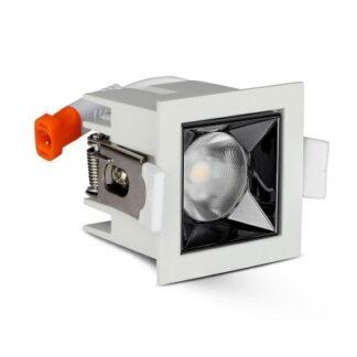 V-Tac 4W LED downlight - Hul: 4,5x4,5 cm, Mål: 5,5x5,5 cm, UGR19, RA90, Samsung LED chip, 230V - Dæmpbar : Ikke dæmpbar, Kulør : Varm