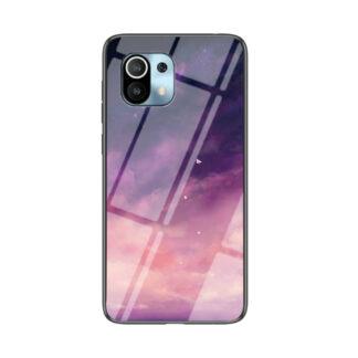 Xiaomi Mi 11 - Hybrid cover med bagside af hærdet glas - Lilla himmel