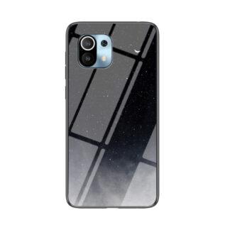 Xiaomi Mi 11 - Hybrid cover med bagside af hærdet glas - Sort