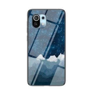 Xiaomi Mi 11 - Hybrid cover med bagside af hærdet glas - Stjernehimmel