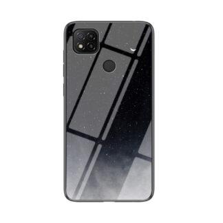 Xiaomi Redmi 9C - Hybrid cover md bagside af hærdet glas - Sort