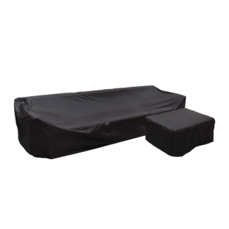 Lounge Sofa Cover - 3 pers. m. puf cover