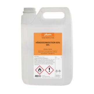 Plum Hånddesinfektion 85% gel, 5 L