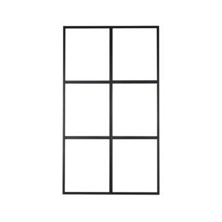 VENTURE DESIGN Leif rumdeler - glas og sort metal (120x210)