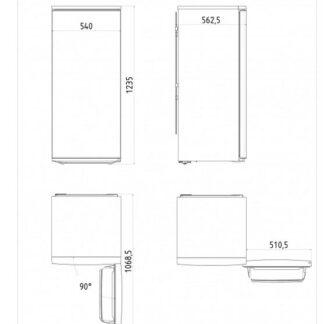 Vestfrost - Køleskab - HOF K 124