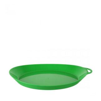 LifeVenture Ellipse Plastic Camping Plates - Letvægts tallerken - Grøn