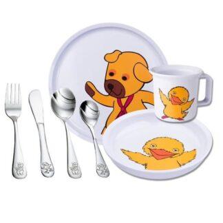 Spisestel til børn, Bamse & Kylling - Nordahl Andersen