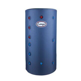 Isoleret akkumuleringstank med sanitetsspiral - 140 liter
