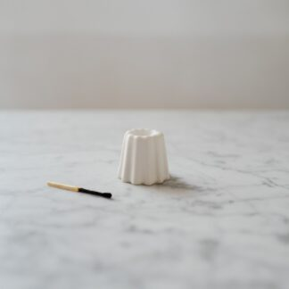 OVO Things canelé lysestage, porcelæn - Blank hvid