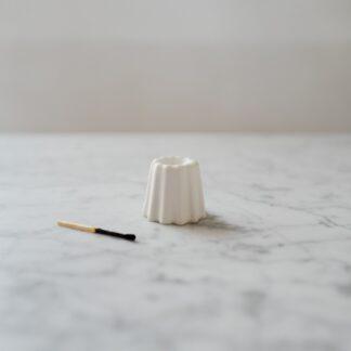 OVO Things canelé lysestage, porcelæn - Mat hvid