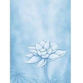 Odin Bohemian Blue Lotus Yogamåtte 1,5cm