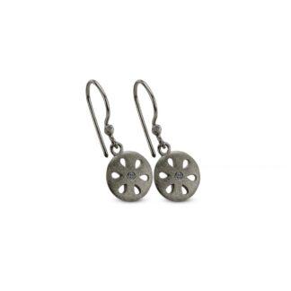 Spirit Icons Flora ørehængere i sølv med zirkonier - 40763