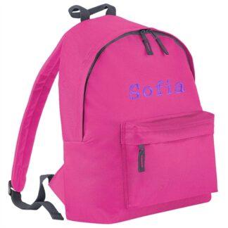 Junior rygsæk 12 l iter med navn . Fuchsia
