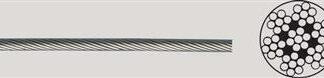 Stålwire 2mm Rustfri syrefast - Lagervare