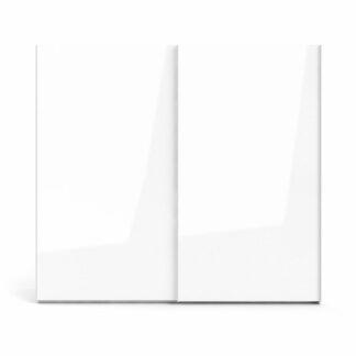 TVILUM Firenze garderobeskab, m. 2 skydelåger - hvid folie og spånplade