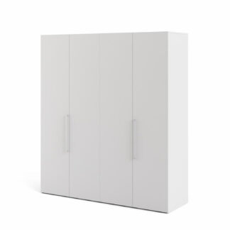 TVILUM Larvik garderobeskab, m. 4 låger - hvid folie